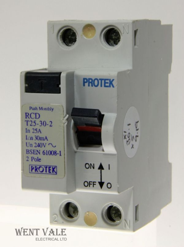Protek - T25-30-2 - 25a 30a Double Pole RCD Used